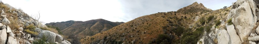 View exiting the nearby cave located in Coronado National Park area, only a quick 20-minute drive from the guest ranch!